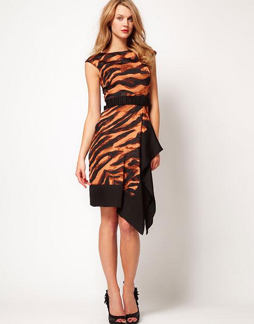 karen miller tiger print dress