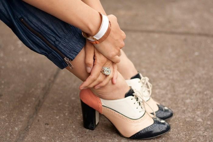 kimberlyloc chunky high heel oxfords