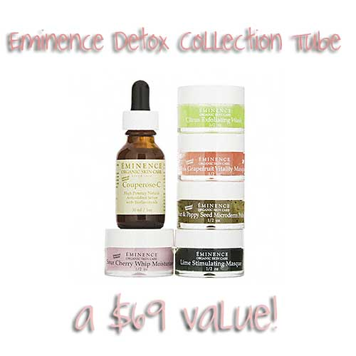 eminence detox collection tube