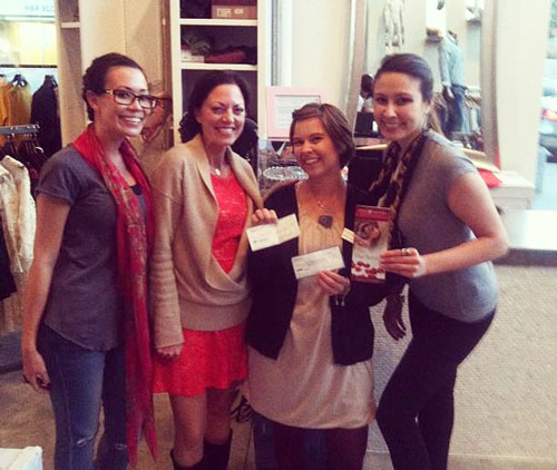 fashionistas on a mission presents check to rose brooks center