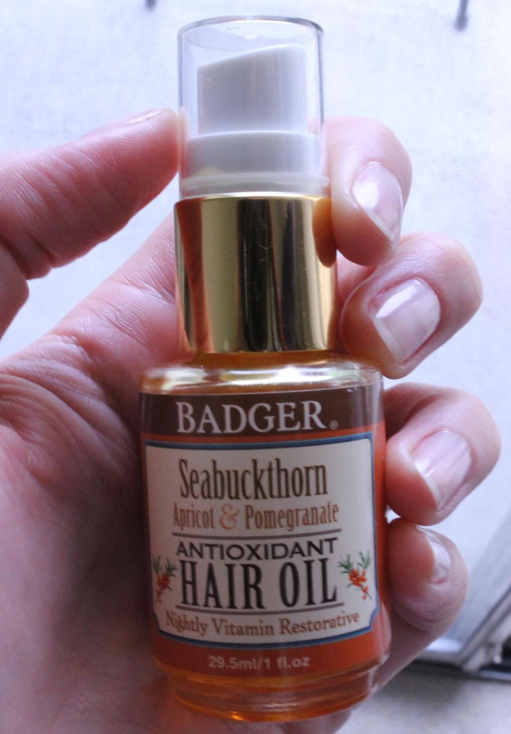 beauty scoop | badger seabuckthorn hair oil for all hair types