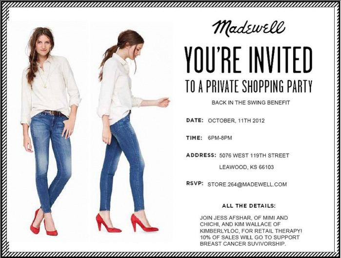 madewell back in the swing shopping event