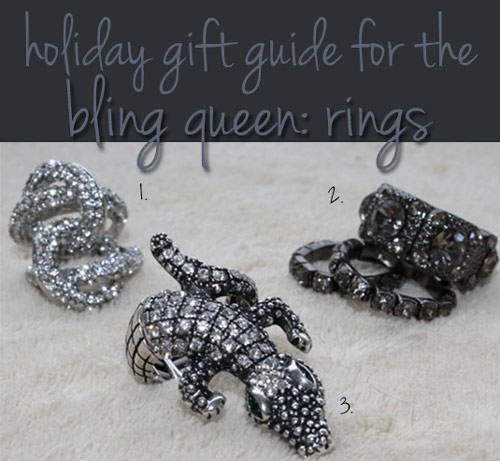 charming charlie holiday gift guide for the bling queen rings
