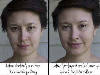 kimberlyloc no makeup photo and photo wearing only rms beauty un cover up concealer