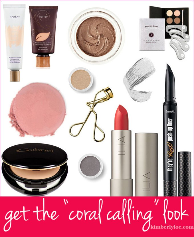 how to get the coral calling makeup look