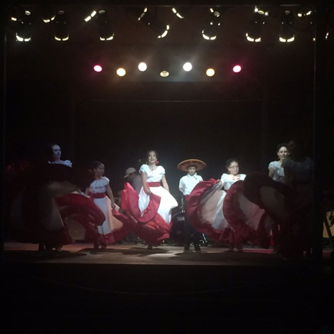new mexican dancers at the plaza in santa fe