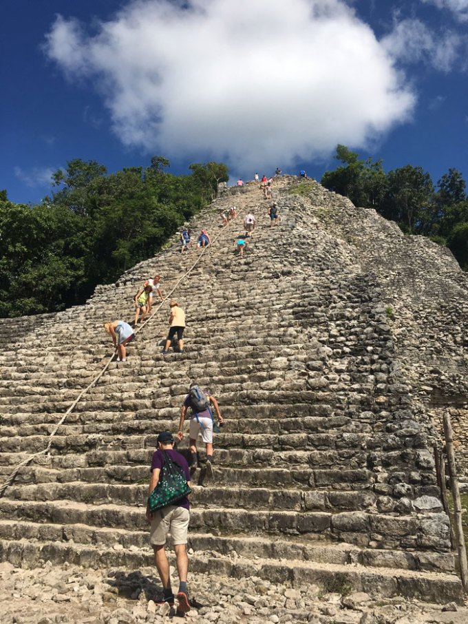 temple at coba ruins
