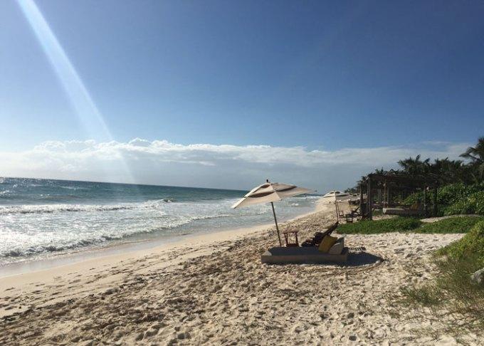 tulum beach in the morning