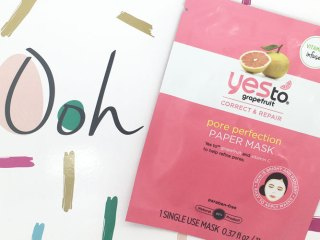 yes to grapefruit pore perfection paper mask
