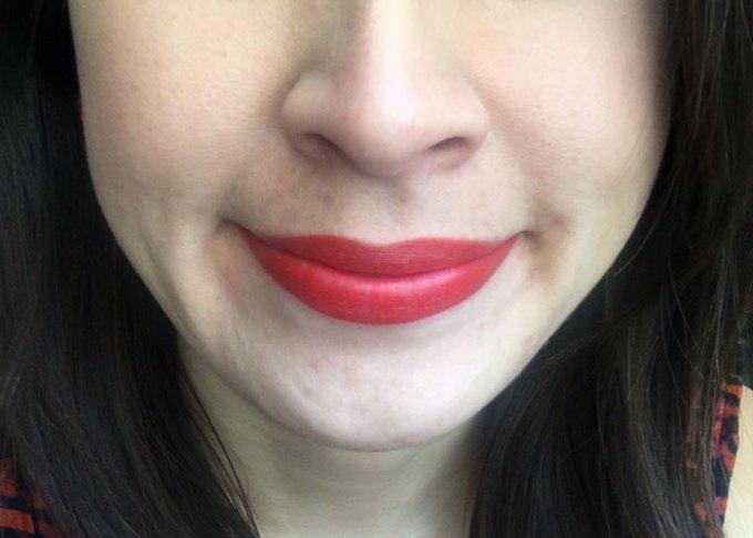kosas thrillest natural red lipstick