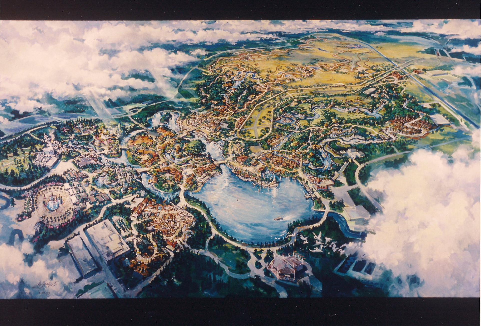 Wild Animal Kingdom: 1995 Animal Kingdom Press Packet; original layout of the park