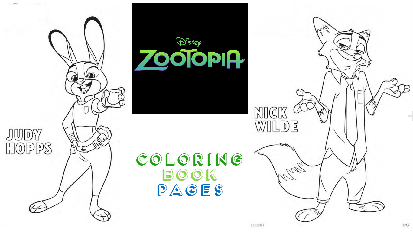 Zootopia Coloring Pages Fun Kimberly Michelle
