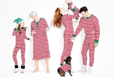 red_stiped_matching_family_pajamas