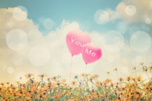 You and Me Heart Balloons
