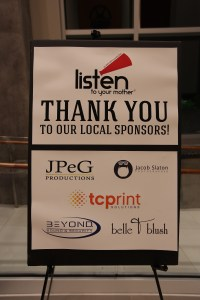 We couldn't have done the show without our amazing sponsors! Photo: Jacob Slaton