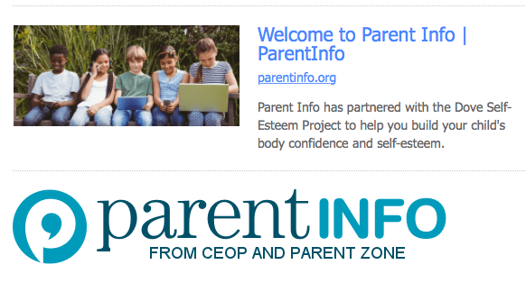 Parent Info from CEOP and Parent Zone