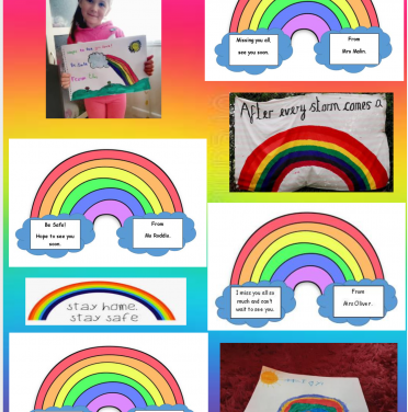 Rainbow messages from Year 1.