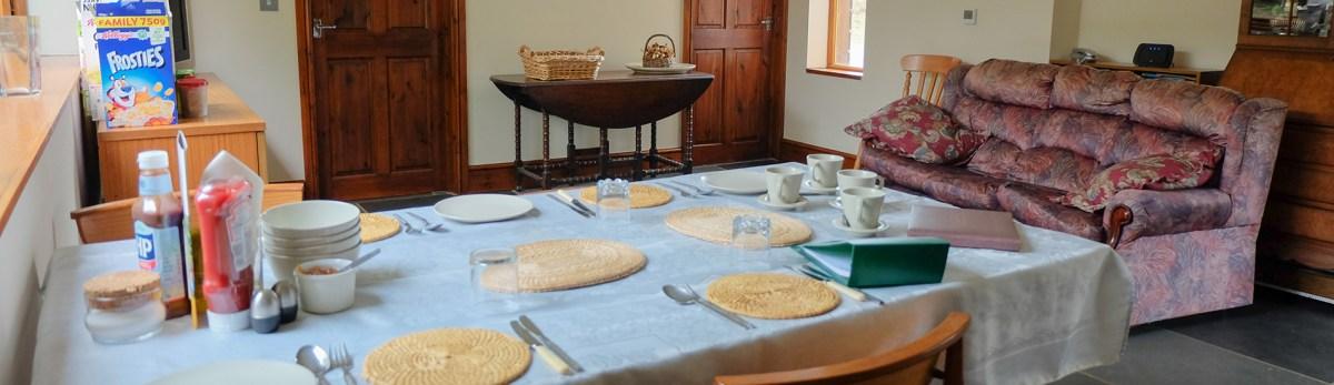 Breakfast area at Southview Kimbland Farm Bed & Breakfast