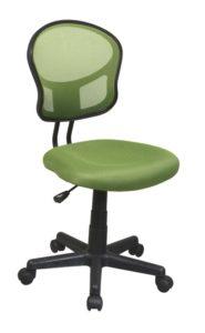 green rolly desk chair