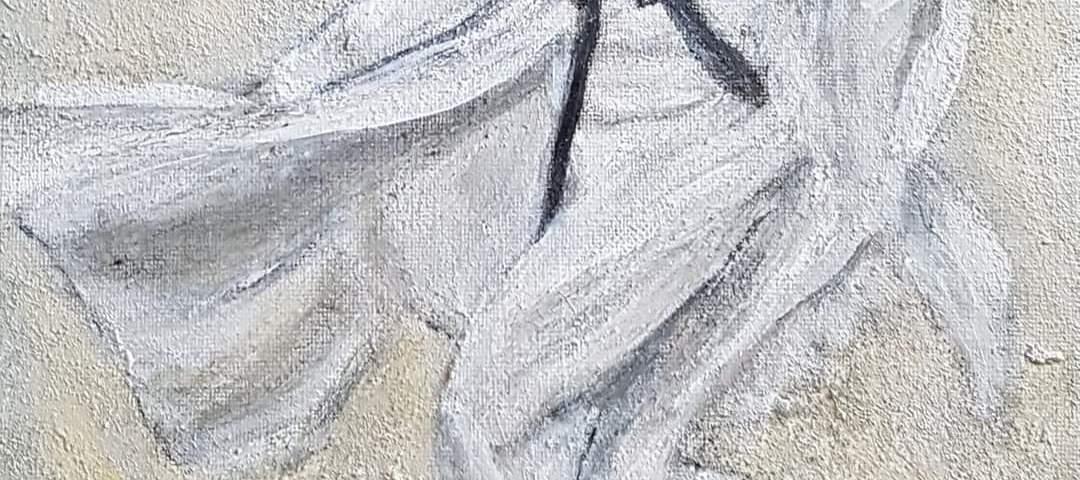 Le danseur dans tous ses élans - acrylique, 25x30 cm (2020)