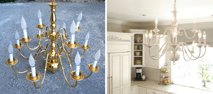 Instead of harsh overhead lights in a room, install inexpensive dimmers. Try craigslist for lamps to brighten a space. It's also a great source for inexpensive chandeliers or pendant lamps to replace a plain builder's grade overhead lamp or fan.