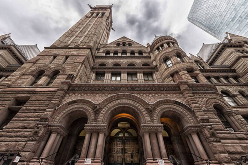 Old City Hall may have the largest number of reported ghosts in Toronto. The last two men sentenced to hanging in Canada reportedly haunt the court they were sentenced in, moaning can be heard, and judges have felt their robes being pulled.