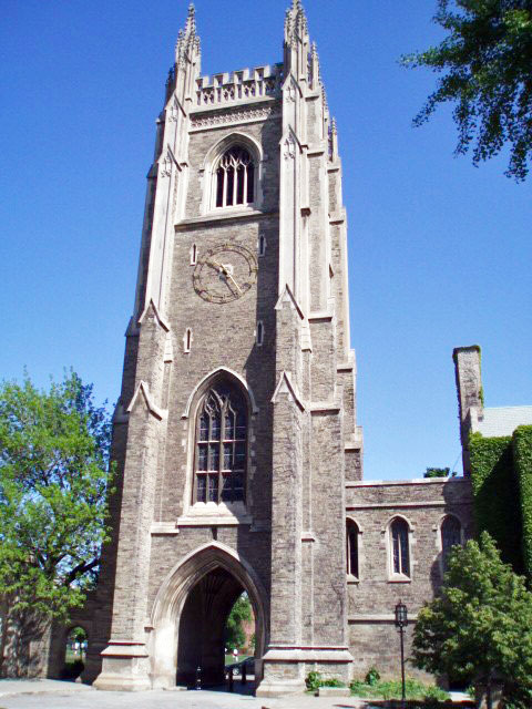 The University of Toronto has many reported sightings of ghosts, such as the Soldier's Tower, a World War memorial where a repair man wanders and lights are seen shining in windows at night.