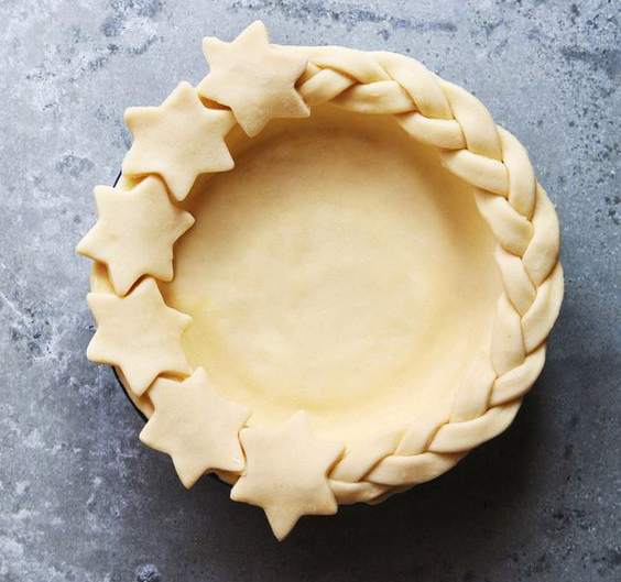 Such a pretty pie shell, ready for blind bake