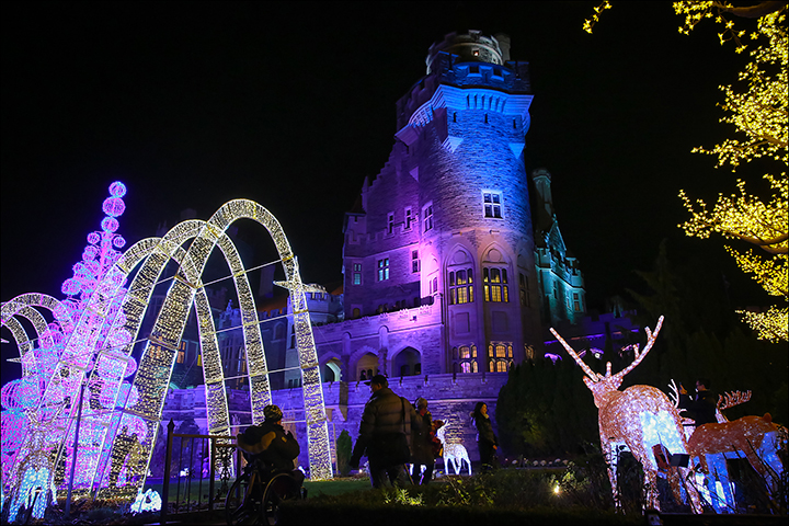 Canadian Winter Nights at Casa Loma, to January 7th, $17-$26. A dazzling winter palace with light display, carolers, and live entertainment