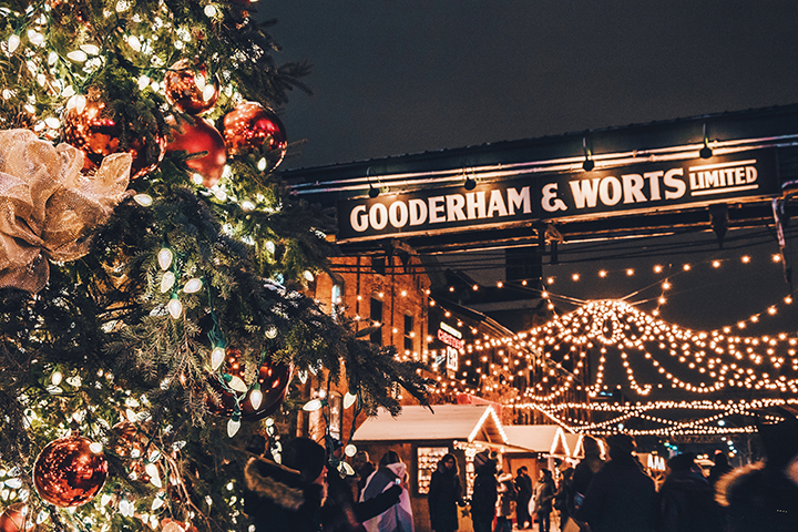 Christmas Market at the Distillery Historic District, to December 23rd, Free to $6. Christmas lights, music, carols, dance performances, and family-friendly activities