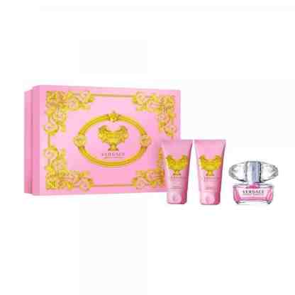 Versace Bright Crystal Gift Set 50ml EDT with Gel & Lotion