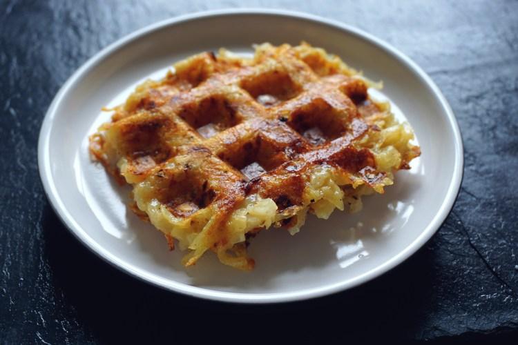 Gluten free hash brown waffle