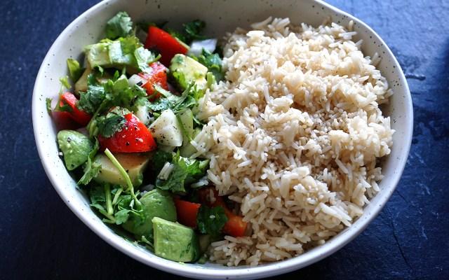 Sesame Avocado Rice Bowl
