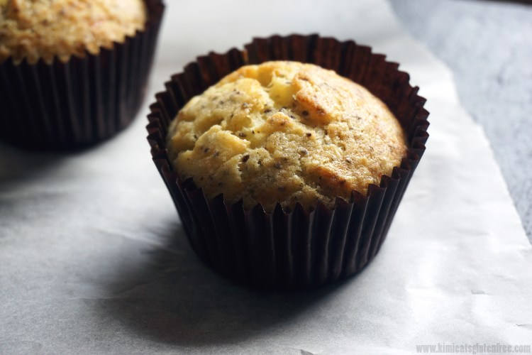 Breakfast gluten free cheddar, cornmeal and chia muffins - gluten free corn chia muffins