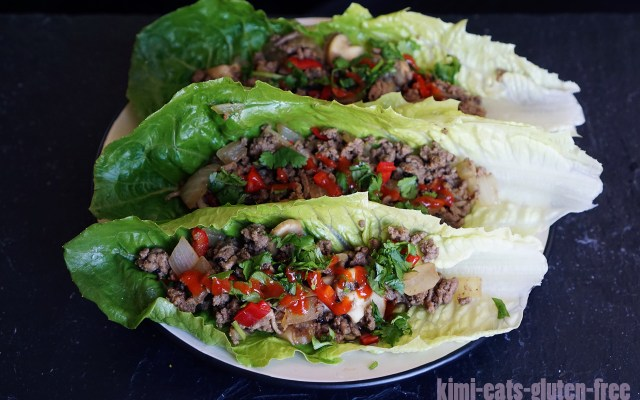 Thai Chilli Beef Lettuce Wraps