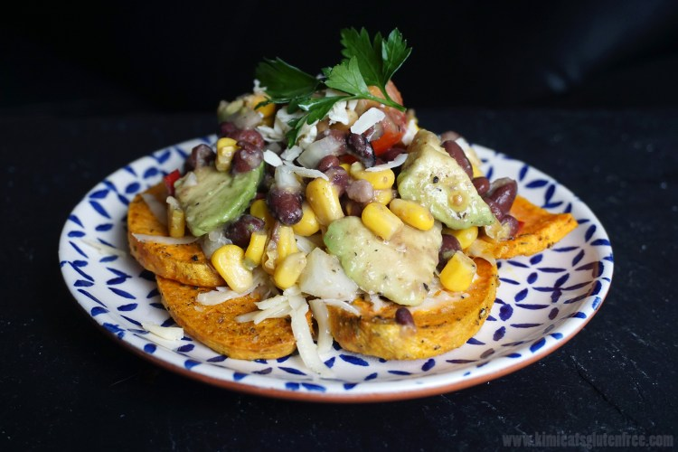 gluten free and vegetarian Southwestern style sweet potatoes