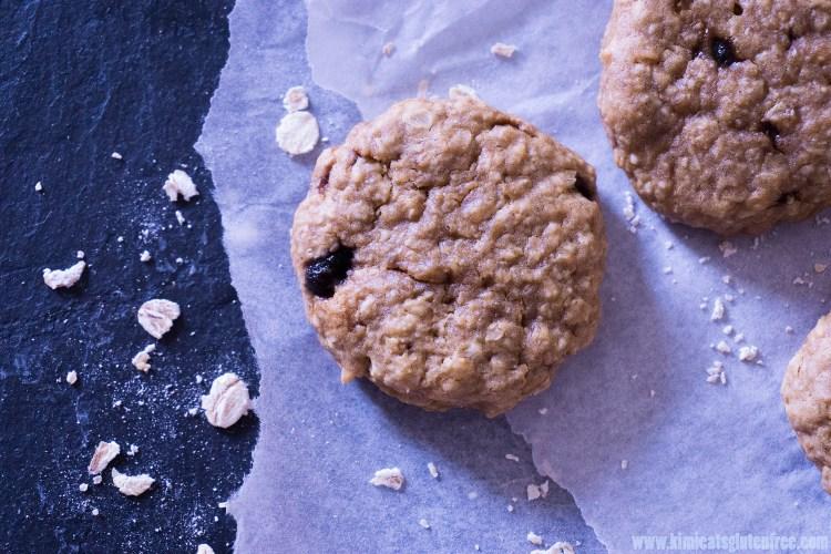Egg free gluten free peanut butter cookies - oatmeal peanut butter cookies