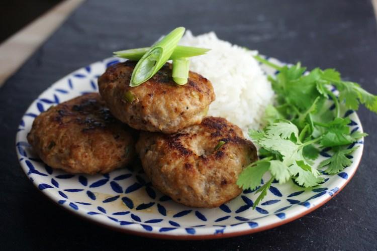 Gluten free mini Vietnamese pork sausage patties - www.kimieatsglutengfree.com