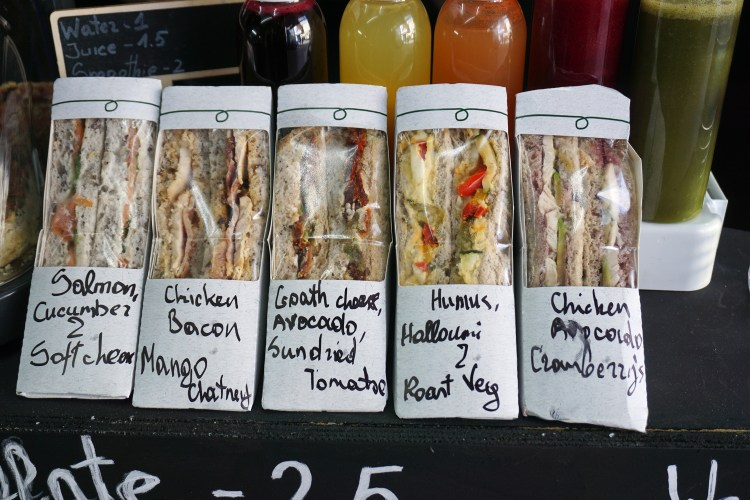 Gluten free sandwiches from Bother Wolf in Nag's head market in Holloway - Holloway gluten free cafe