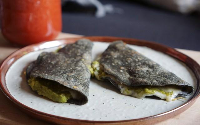 Gluten Free Guacamole Quesadillas {Blue Corn}