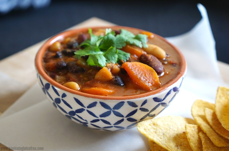 Gluten free meat free bean chilli