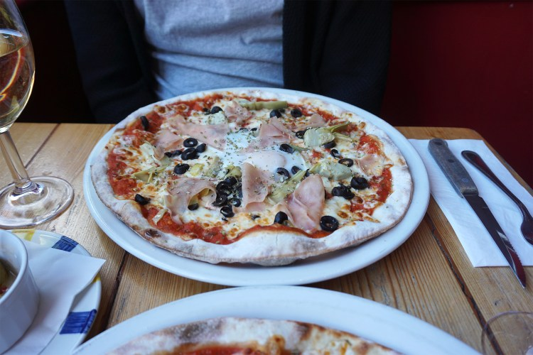 Gluten free capricciosa pizza from Stingray in Tufnell Park, North London - Stingray gluten free London