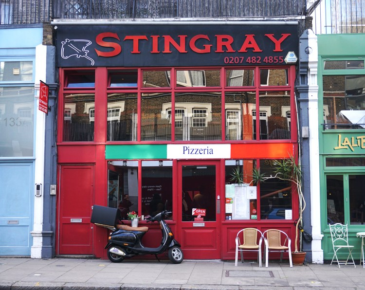 Stingray Cafe shop front - gluten free Italian restaurant in North London - Stingray gluten free London