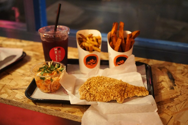 Mr Ji | London | Camden | Gluten free fried chicken, chips, fries, coleslaw and ice tea