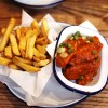 Gluten free chipotle BBQ chicken wings and rosemary chips from Honest Burgers | gluten free chicken and chips guide | London | UK