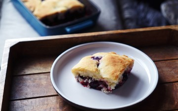 Gluten free blueberry cobbler recipe | using Doves Farm gluten free self-raising flour