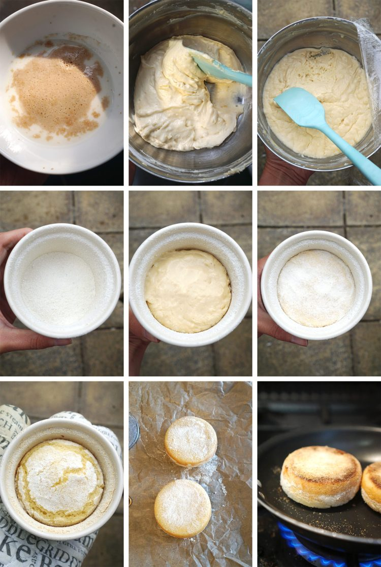 How to make proper soft gluten free English muffins - step by step