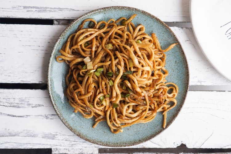 Homemade gluten free Chinese egg noodles / chow mein