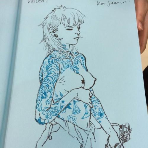 023 - Kim Jung Gi sketch dédicace