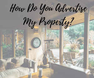 How do you advertise my property?